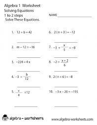 basic algebra worksheets solvingns