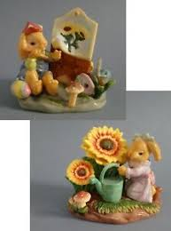 Baby Nursery Decor Porcelain Figurines Porcelain Animals Kids Room Decor Rabbit Ebay
