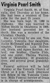 Obituary for Virginia Pearl Smith (Aged 80) - Newspapers.com