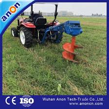 China Anon Hydraulic Soil Drilling Fence Post Drill Tractor Mounted Post Hole Digger China Mini Digger And Digger Machine Price