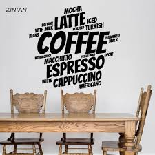 Coffee Words Wall Sticker Coffee Shop Decoration Cafe Vinyl Stickers Waterproof Wall Decal Kitchen Home Decor Dining Room Mural Decals Mural Sticker From Joystickers 14 47 Dhgate Com