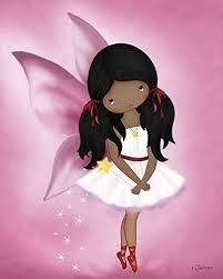 Amazon Com Poster African American Girl Angel Fairy Kids Bedroom Wall Art Nursery Decoration Dark Skin Black Unframed 8x10 Print Handmade