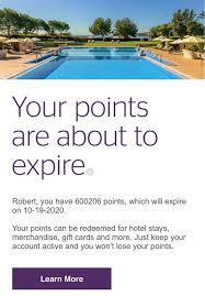 marriott rewards email alert points