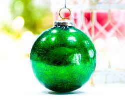 vintage large 4 mercury glass ornament