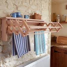 wall mounted clothes airer drying rack