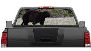 Black Bear Camo Hunting Rear Window Decal Graphic Truck Suv Ushirika Coop