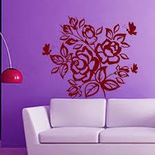 Shop Rose Butterfly Blossom Stickers Vinyl Sticker Art Mural Bedroom Kids Room Decor Sticker Decal Size 48x48 Color Black Overstock 14757928