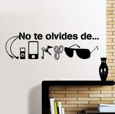 Amazon Com Smydp Spanish Quotes Wall Decal Stickers Walls No Te Forget Of Key Cash Phone Sunglasses Necessities Before Leaving Vinyl 57x17cm Baby
