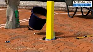 How To Install And Use A Removable Lift Out Parking Post On A Private Parking Space Youtube
