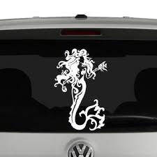 Get Off My Tail Mermaid Tail In Water Vinyl Decal Sticker Car Window