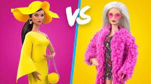 16 Bí Quyết Dành Cho Búp Bê Barbie / Ý Tưởng Trang Phục Màu Hồng Và Vàng -  YouTube