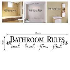 Bathroom Art Diy Toilet Rules Waterproof Quote Word Wall Stickers Bathroom Removable Sticker Wallpaper Home Bath Decal Decor Wall Stickers Aliexpress