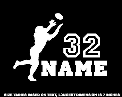 Personalized Football Decal Window Sticker For Car Wall Window Mirror F5 Football Decal Personalized Football Football