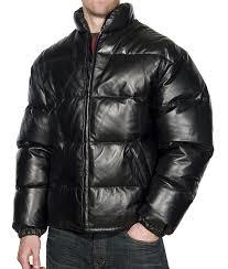 leather bubble goose men jacket west
