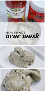 homemade acne mask with bentonite clay