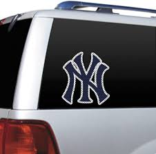 Amazon Com Mlb New York Yankees Die Cut Window Film Sports Fan Automotive Decals Sports Outdoors