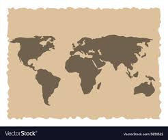 old world map royalty free vector image