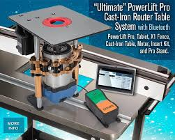 Ultimate Powerlift Pro With Bluetooth Router Table System