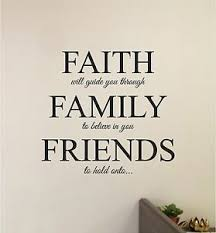 Faith Family Friends Wall Sticker Decal Stickers Wall Art Lettering Ebay