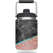 Skin Decal Wrap For Yeti Rambler Half Gallon Jug Sticker Cut Marble Walmart Com