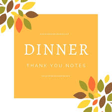 dinner thank you notes thank you card wording