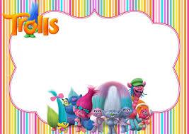 Free Printable Trolls Party Invitation Con Imagenes Fiesta De