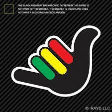 Hang Loose Car Decal Shaka Hawaii Stickerpremium Vinyl Die Cut Rainbowlands Lk