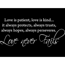 White 22 X 9 5 Love Is Patient Love Is Kind Vinyl Wall Art Inspirational Quotes And Saying Home Decor Decal Sticker Walmart Com Walmart Com