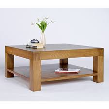 square chunky wooden coffee table