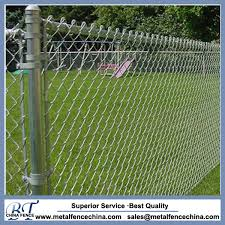 China Black Color And Galvanized Cyclone Residential Chain Link Fabric Fence China Security Fence Galvanized Chain Link Fence