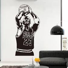 Basketball The Shoot 23 Michael Jordan Wallpaper Home Decoration Wall Sticker For Living Room Kids Room Decoration Murals Poster Wall Stickers Aliexpress