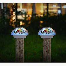 Amazon Com Haveone Solar Post Lights Outdoor Light For Fence Deck Or Patio Solar Powered Caps Warm White Led Lighting Waterproof For Garden Patio Decoration 4x4 Or 3 5x3 5 Posts 2 Pack