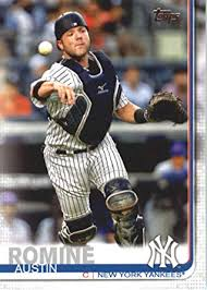 Amazon.com: 2019 Topps #426 Austin Romine New York Yankees ...