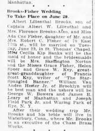 Brooks, Albert Lilienthal Marriage to Ada Cox Fisher 29 Jun 1926 -  Newspapers.com