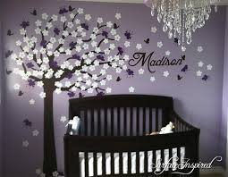 Nursery Wall Decals Stickers Large Cherry Blossom Tree With Custom Nam Surface Inspired Home Decor Wall Decals Wall Art Wooden Letters