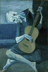 """Viejo con guitarra"""" Picasso pinto esta obra durante su perioda ..."""