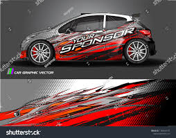 Car Decal Design Vector Abstract Racing Stock Vector Royalty Free 1186624177
