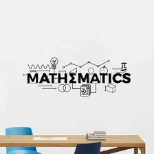 Mathematics Wall Decal Math Classroom Decor School Vinyl Etsy
