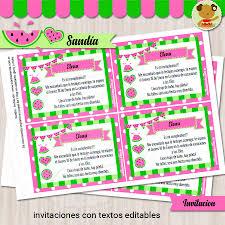Sandia Invitacion Textos Editables