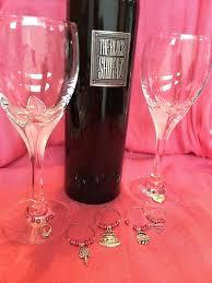 bridal shower wedding wineglass