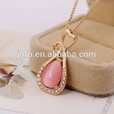design crystal opal pendant necklace