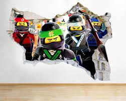 J Lego Ninjago Characters Cool Smashed Wall Decal D Art Independence