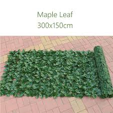 3x1 5m 4 Types Fence Screen Artificial Leaves Garden Yard Privacy Fence Screen Wall Hedge Sweet Potato Maple Green Leaves Environmentally Friendly And Odorless Leaf Indoor Outdoor Home Decor Lazada Ph