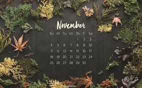 november 2018 autumn desktop calendar