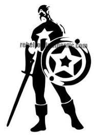 White Captain America 6 Vinyl Decal Rebel Rd Auth