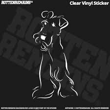 Cute Dog Decal 5 Airedale Fox Irish Terrier White Print Clear Vinyl Sticker Rotten Remains High Quality Stickers Decals