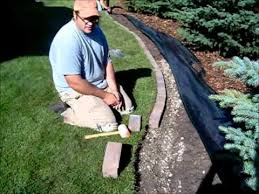 how to install a paving stone border
