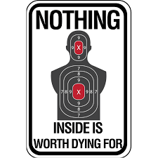 Nothing Inside Is Worth Dying For Aluminum Sign Free Shipping