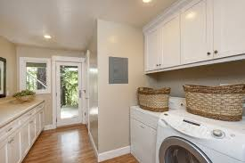 bathroom with laundry design
