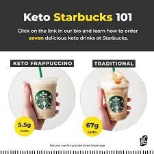 low carb starbucks drinks keto